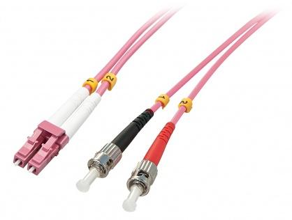 Cablu fibra optica LC-ST OM4 Duplex Multimode 15m, Lindy L46355