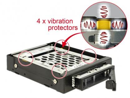 "Rack mobil 3.5"" pentru 1 x 2.5"" SATA / SAS HDD / SSD cu protectie la vibratii, Delock 47228"