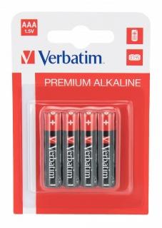 Set 4 buc baterii Verbatim AAA LR3 alkaline