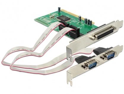 PCI cu 2 x Serial RS232, 1 x paralel DB25, Delock 89004