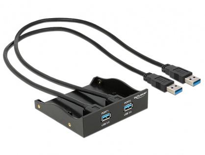 "Front Panel 5.25""/3.5"" cu 2 porturi USB 3.0, Delock 61828"