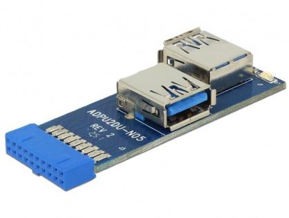 Adaptor intern la 2 porturi USB 3.0, Delock 41846