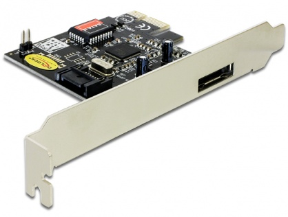 Placa PCI Express la 1x eSATA, 1x SATA, Delock 70157