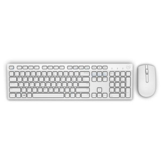 Kit tastatura si mouse wireless KM636 Alb, Dell 580-ADGF
