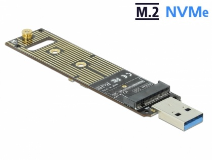 Adaptor USB 3.1 Gen 2 la M.2 NVMe PCIe SSD, Delock 64069