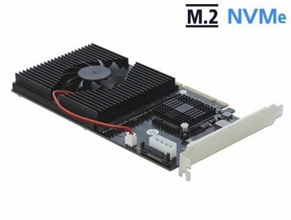 PCI Express x8 / x16 la 4 x NVMe M.2 Key M interne, Delock 90409