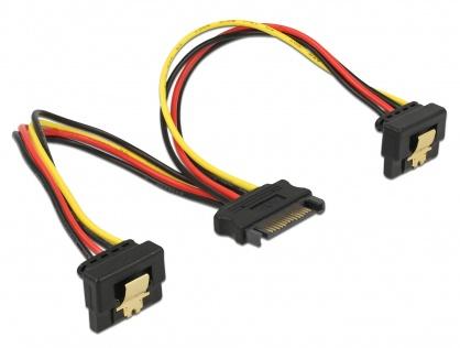 Cablu de alimentare SATA 15 pini la 2 x SATA in unghi, Delock 60128