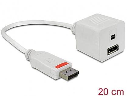 Adaptor Displayport la Displayport + mini Displayport T-M, Delock 61751