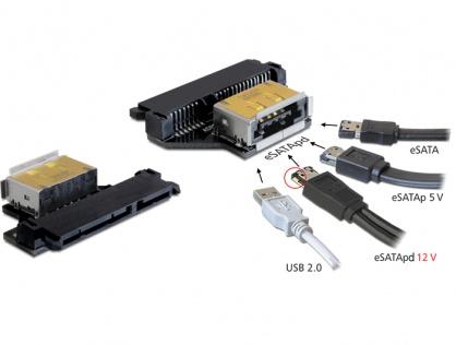 Adaptor SATA 22 pini la eSATApd M-T, Delock 61873