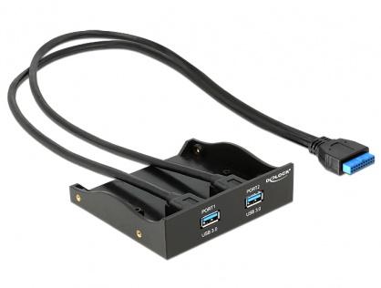 Front Panel cu 2 X USB 3.0, pinheader USB 3.0 19pini, Delock 61896