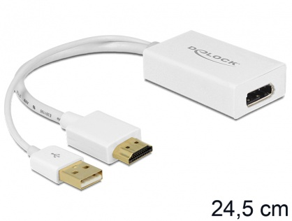 Adaptor HDMI la Displayport 1.2 4K T-M, Delock 62496