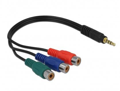 Cablu video 3 x RCA la jack Stereo 3.5 mm 4 pini M-T, Delock 62499