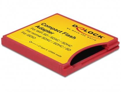 Adaptor Compact Flash tip II la iSDIO (WiFi SD), SDHC, SDXC, Delock 62542