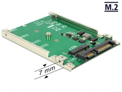 Convertor SATA 22 Pini la M.2 NGFF pana la 7mm, Delock 62544
