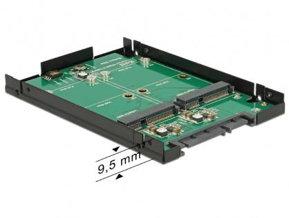 """Convertor SATA 22 Pini 2.5"""" la 2 x mSATA cu RAID, Delock 62594"""