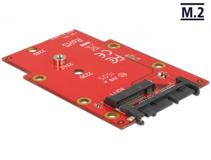 "Adaptor micro SATA 16 pini 1.8"" la M.2 NGFF, Delock 62636"