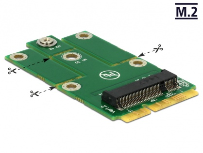 Adaptor mini PCIe la M.2 NGFF key B, Delock 62654
