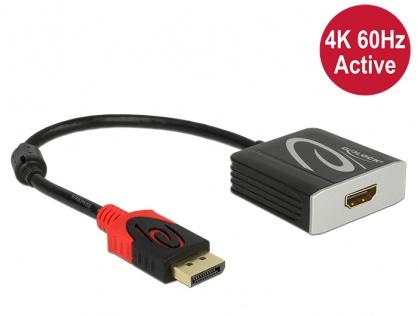 Adaptor Displayport 1.2 la HDMI T-M 4K 60 Hz Activ, Delock 62734