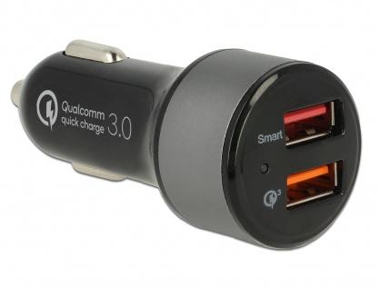 Incarcator auto cu 2 x USB Qualcomm® Quick/Fast Charge 3.0 (incarcare rapida), Navilock 62739