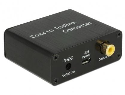 Convertor Digital Audio Coaxial la TOSLINK, Delock 62790