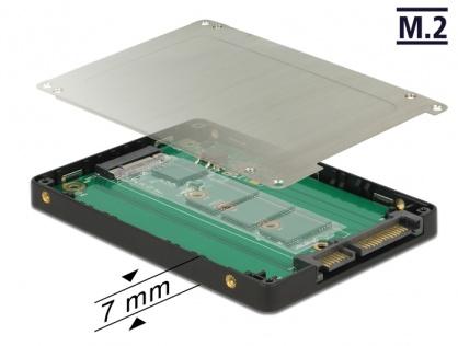 "Adaptor 2.5"" SATA 22 pini la M.2 cu rack extern, Delock 62792"