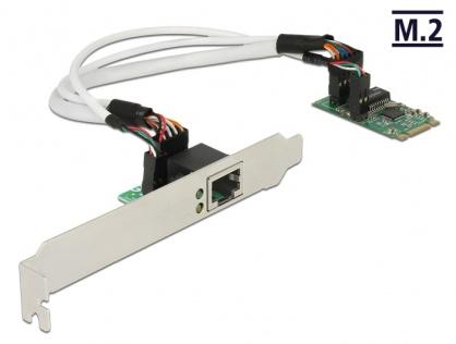 Convertor M.2 Key B+M male la 1 x Gigabit LAN Low Profile Form Factor, Delock 62851