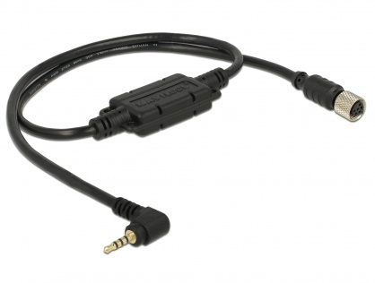 Cablu M8 waterproof la jack 2.5 mm 4 pini 90° TTL (5 V), Navilock 62888