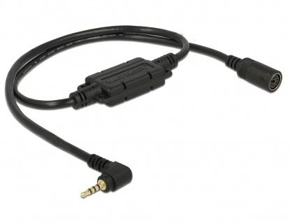 Cablu MD6 socket serial la jack 2.5 mm 4 pini 90° LVTTL (3.3 V) 52cm, Navilock 62924