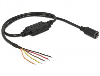 Cablu MD6 socket serial la 5 fire deschise LVTTL (3.3 V) 52cm, Navilock 62928
