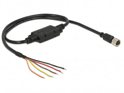 Cablu M8 waterproof la 5 fire deschise LVTTL (3.3 V), Navilock 62938