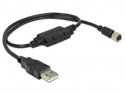 Cablu M8 waterproof la USB-A 2.0 M-T, Navilock 62970