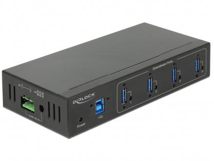 HUB extern industrial cu 4 x USB 3.0 tip A, protectie 15 kV ESD, Delock 63309