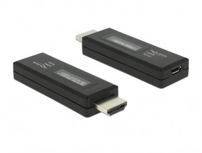 Tester HDMI pentru informatii EDID cu OLED display, Delock 63327