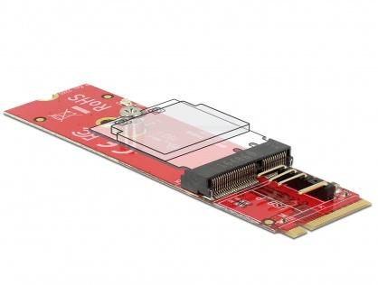 Adaptor M.2 Key M la M.2 Key E pentru module USB/PCIe, Delock 63343