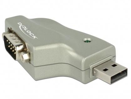 Adaptor USB la Serial RS232 DB9 unghi 110 grade, Delock 63916