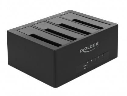 """Docking Station USB 3.1-C pentru 4 x HDD/SSD SATA 2.5""""+3.5"""", Delock 63930"""