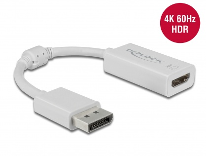 Adaptor Displayport 1.4  la HDMI (DP Alt Mode) 4K 60Hz cu HDR T-M Alb, Delock 63936