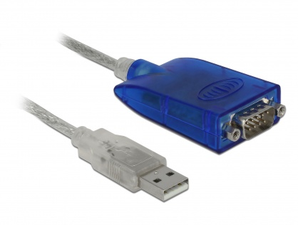 Adaptor USB 2.0 la serial RS-422/485 DB9 surge protection 600 W extended temperature range, Delock 64055