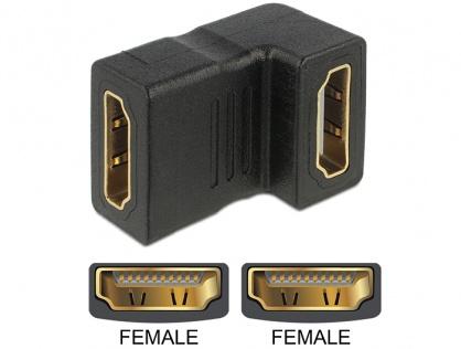 Adaptor HDMI M-M unghi 90 grade jos, Delock 65075