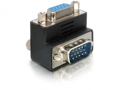 Adaptor VGA M-T unghi 90 grade, Delock 65171