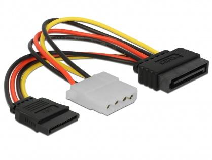 Cablu alimentare SATA la SATA + Molex T-M, Delock 65235