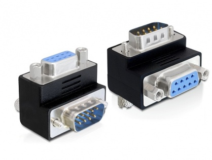 Adaptor D-Sub 9 pini T - M, unghi 90, Delock 65264