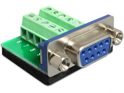 Adaptor Serial mama la bloc terminal, 10 pini, Delock 65268
