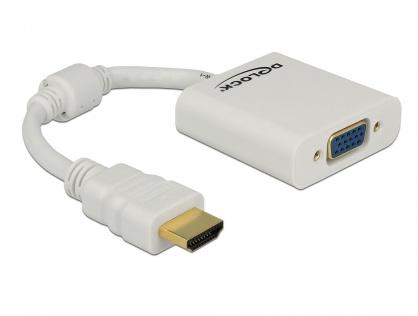 Adaptor HDMI la VGA Alb T-M, Delock 65346