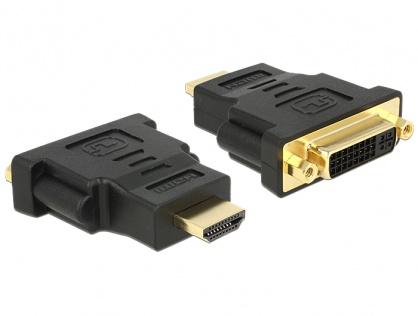 Adaptor HDMI la DVI-I Dual Link 24+5 pini T-M, Delock 65467