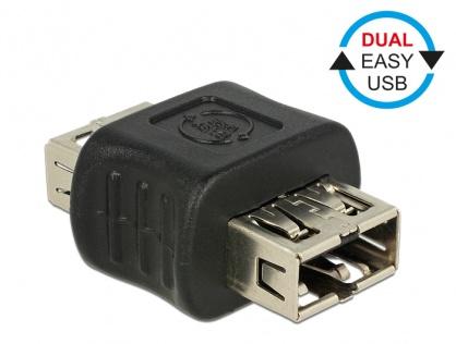 Adaptor EASY-USB 2.0 tip A M-M, Delock 65642