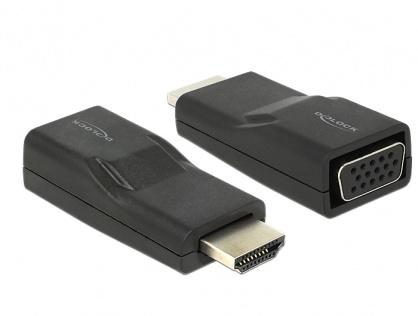 Adaptor HDMI la VGA T-M Negru, Delock 65655