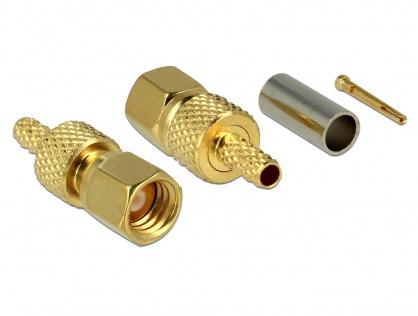 Conector SMC plug for crimping RG-174 / RG-316, Delock 65859