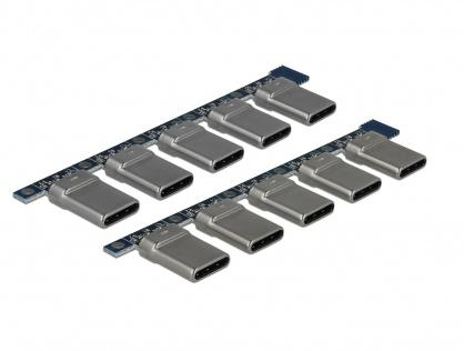Set 10 bucati conector USB-C 2.0 tata, Delock 65966