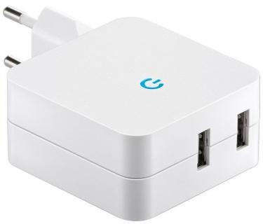 Incarcator priza 230V la 2 x USB 4.1A, Goobay 67930